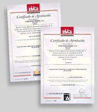 Certificados de Aprobación ISO 9002/94