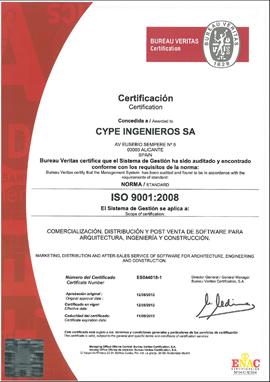 Cype logra el certificado iso 9001 2008 para su sistema de - Bureau veritas espana ...