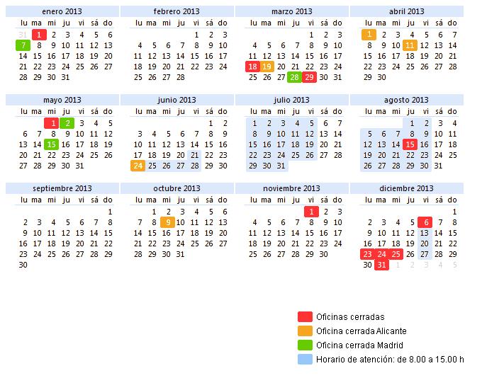 Tel fonos de contacto horario y calendario laboral de for Horario oficinas bankinter madrid